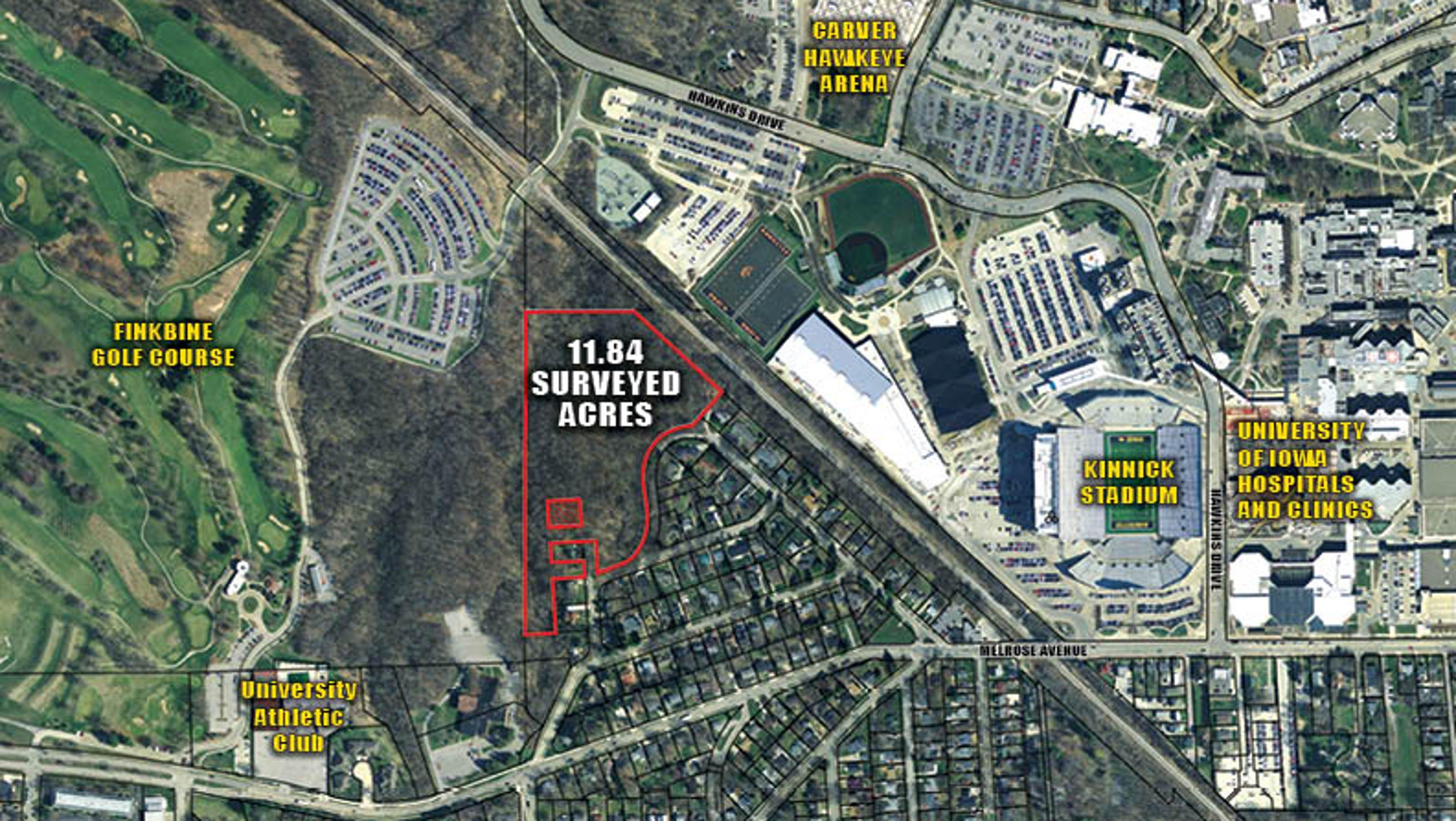 Kinnick Stadium Map University Heights wins auction for 11 acres near Kinnick Stadium Kinnick Stadium Map