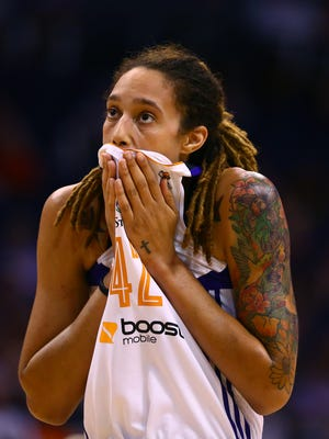 Phoenix Mercury center Brittney Griner is OK after being attacked by a man with a knife in China.