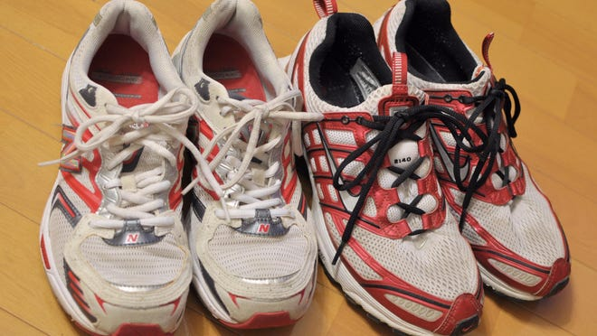 Old running shoes.