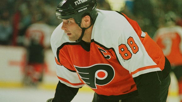 Eric Lindros is fifth on the Flyers' all-time points list despite playing in less than 800 career games.