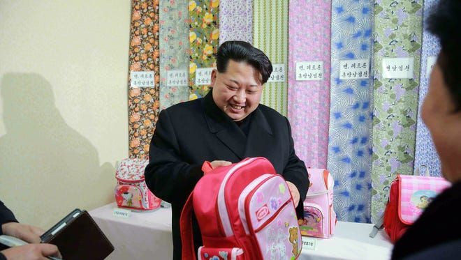 This undated picture released from North Korea's official Korean Central News Agency (KCNA) on Jan. 28, 2016 shows North Korean leader Kim Jong-Un inspecting the Kim Jong-Suk Pyongyang textile mill factory in Pyongyang.