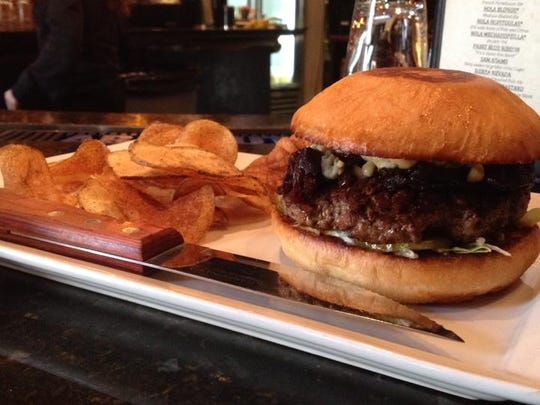 The Southern Belle is Tiffiany Decou's favorite Lafayette burger. It features onion marmalade, blue cheese and dijon mustard. She recommends adding bacon to up the experience!