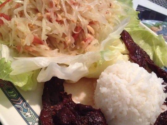 Papaya salad from Maesone Noodle House.