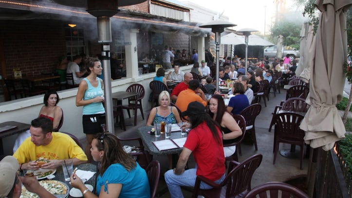 The patio at Four Peaks Brewery is a popular spot for ASU students to hang out.