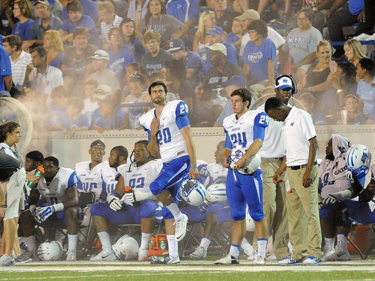 NCAA Football: Middle Tennessee at Memphis