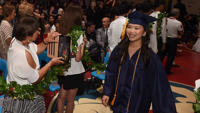 Annie Wen during the St. John's School Class of 2018 Commencement at the Dale J. Jenkins Gymnasium on May 26, 2018.