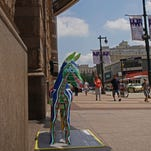 Philadelphia artist Jonathan Mandell was chosen to create a Delaware themed donkey sculpture for the Democratic National Convention in Philadelphia. The sculpture is located on Market Street under the Pennsylvania Convention Center sign.