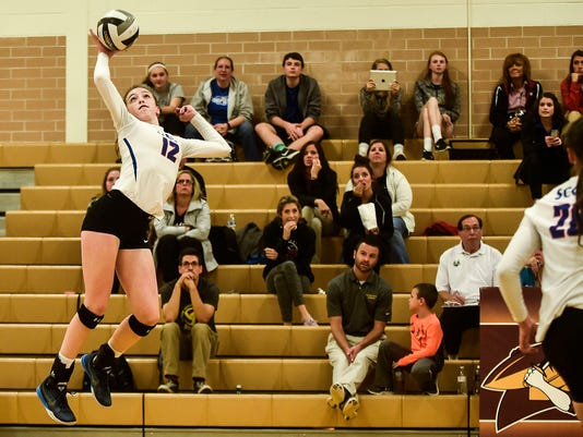 Highland volleyball Raina Terry returns
