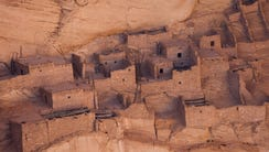 The Betakin ruins are seen at the Navajo National Monument