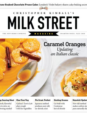 The charter issue of Christopher Kimball's new Milk Street magazine.