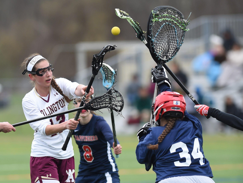 Arlington's Danielle DiLorenzo takes a shot on Wappingers' goalie, Skylar Carpenteri during Friday's game at Arlington High School.