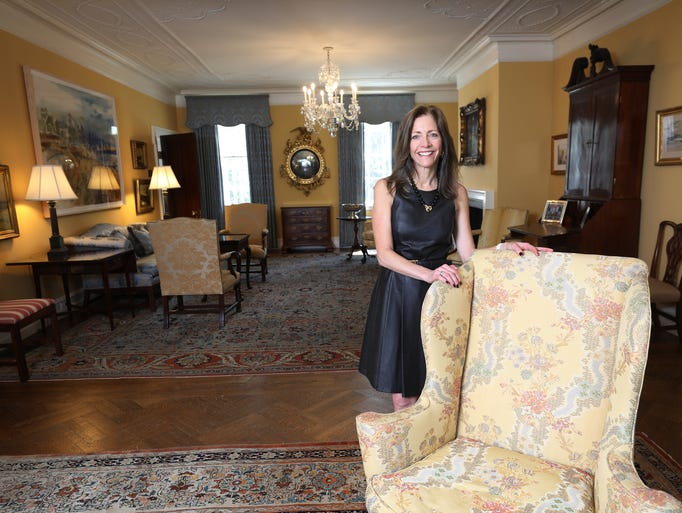 First Lady, Tammy Murphy in the formal living room
