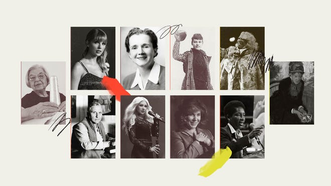 Some of the women born in Pennsylvania who have inspired and achieved since the passing of the Second Amendment, are, clockwise from top left: Taylor Swift, Rachel Carson, Nellie Bly, Patti LaBelle, Mary Cassatt, Loretta Clairborne, Teresa Heinz Kerry, Christina Aguilera, Gertrude Stein and Marian Anderson.
