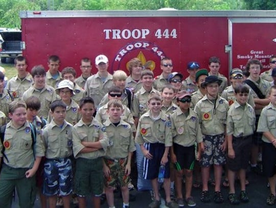 Plumlee grew up in Scouting, and with his Troop 444,