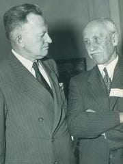 Orville Wright and Richmond Postmaster Fred C. Pickett