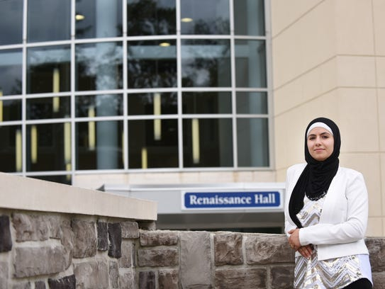 Huda Shalabi, a Berkeley College student working toward