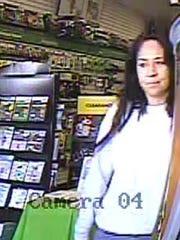 One of two people sought by the El Paso Police Department for allegedly charging more than $1,000 on a cloned credit card last month.