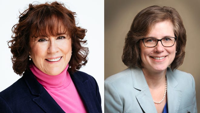 Chris Campbell, right, a West Lafayette Democrat, has filed to run against state Rep. Sally Siegrist in the November election for the Indiana House District 26 seat.