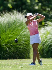 Katelyn Le tees off at hole two during the first round