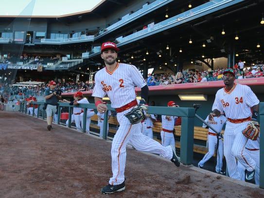 Chihuahuas second baseman Carlos Asuaje is all smiles