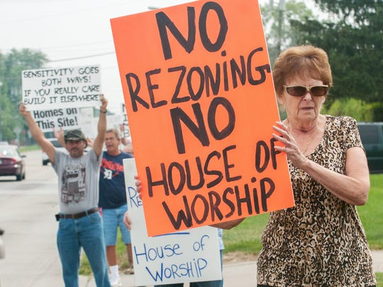 Annamarie Zatine helped fight a proposed mosque on 15 Mile last year. Sterling Heights rejected the bid, saying it didn't fit the surroundings.