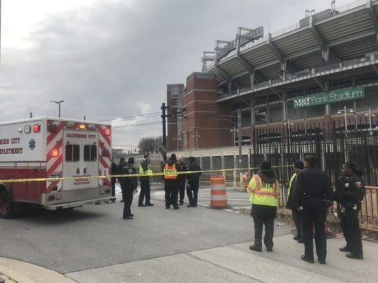 Man dies after running from flaming portable toilet in M&T Bank Stadium parking lot, police say