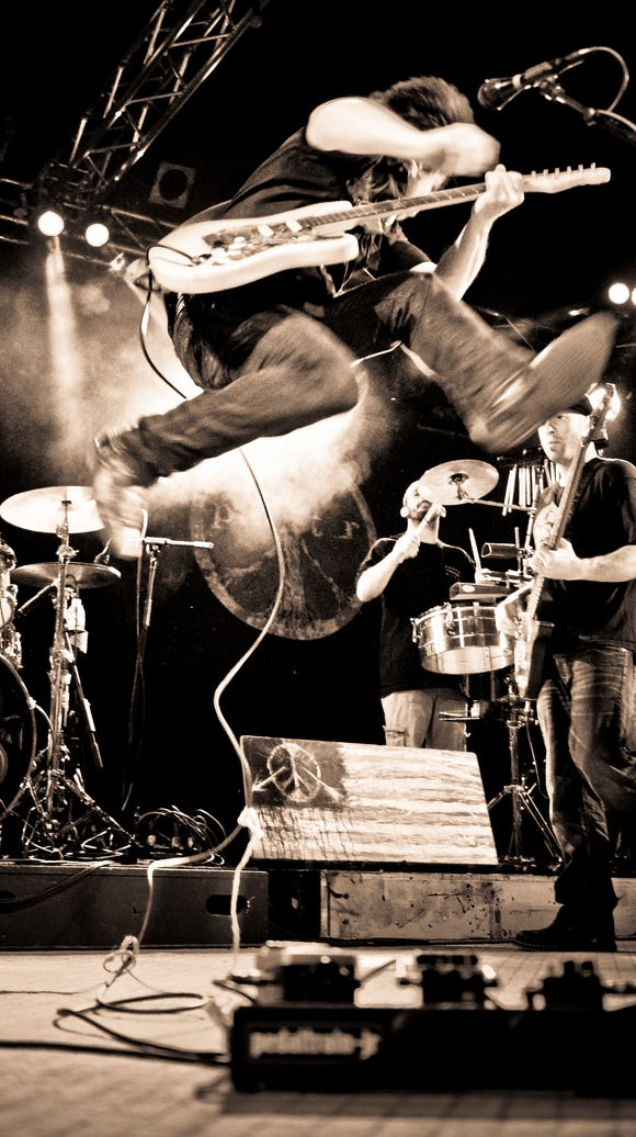 Lukas Nelson, son of Willie Nelson, leaps into the