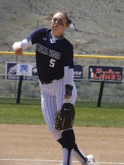 Pieda Vista's Morgan Anderson pitches against Cibola on Saturday at the Farmington Sports Complex.