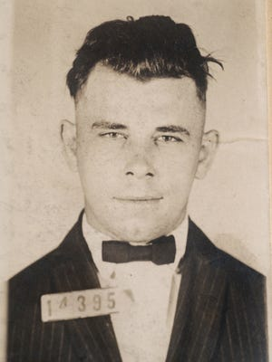 This Indiana Reformatory mug shot of John Dillinger (cq) is stored in the state archives showing the notorius gangster as a 21-year-old. Records show that Dillinger was admitted into the reformatory on Sept. 16 1924.