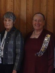 Elizabeth M Woods, left, and Brenda Gunnoe Mandes