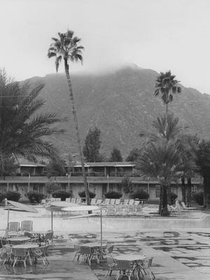Camelback Mountain is seen from Mountain Shadows Resort during the resort's prime in December 1967.