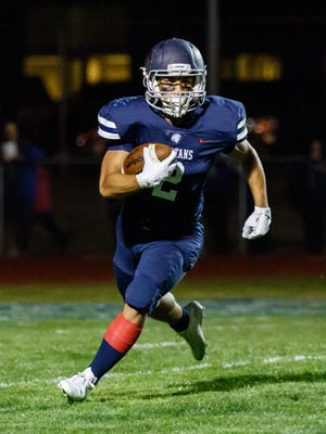 Brookfield East senior Justin Parbs has run for 545 yards in the last four games.