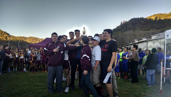Swain County's boys won the team trophy at Wednesday's Smoky Mountain Conference cross country meet in Cherokee.