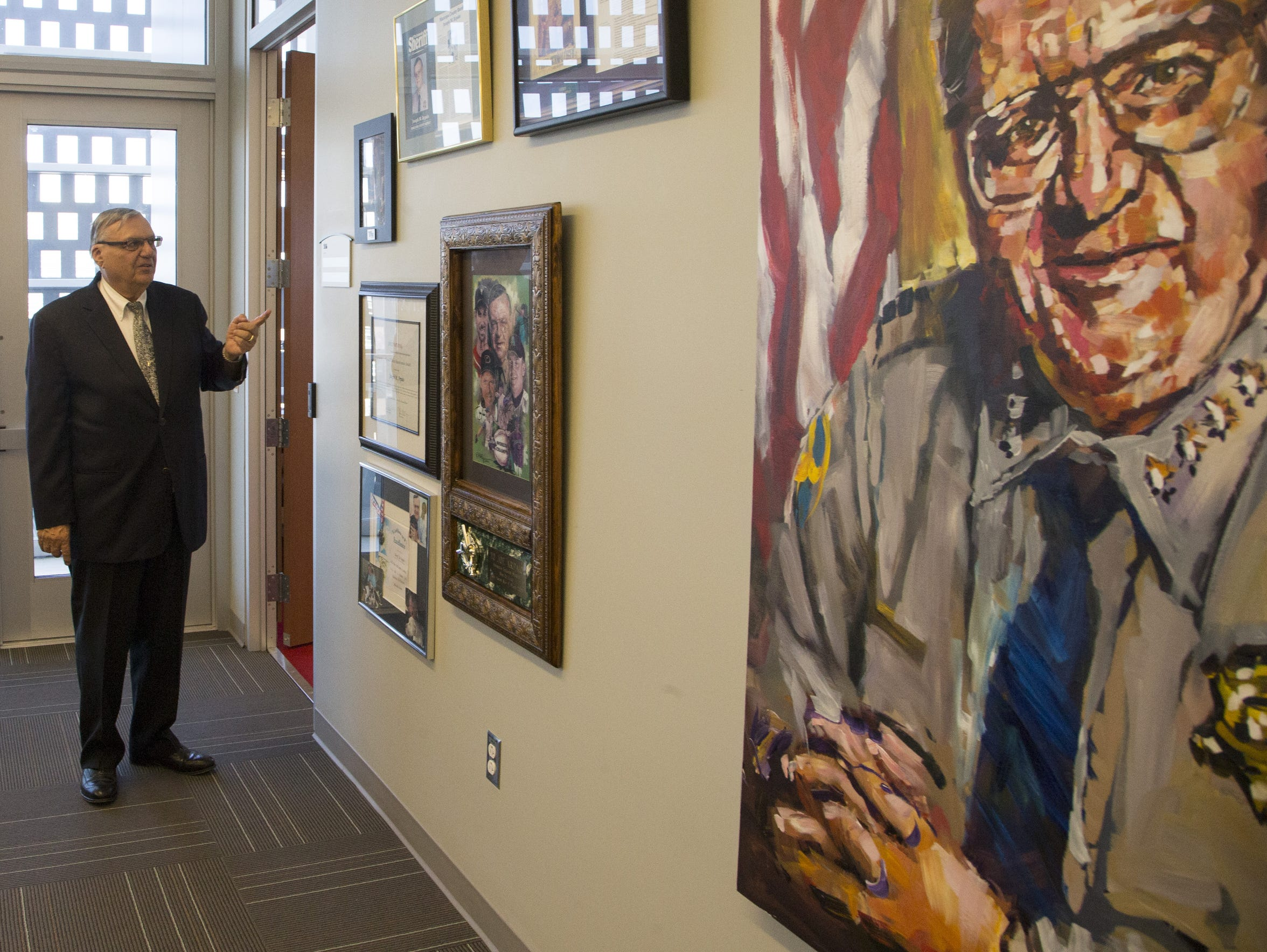 Sheriff Joe Arpaio, at his massive office in Phoenix,