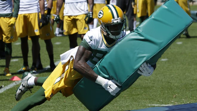 Green Bay Packers wide receiver Geronimo Allison (81) is shown during organized team activities (OTA)  Thursday, June 1, 2017 in Green Bay, Wis.  MARK  HOFFMAN/MHOFFMAN@JOURNALSENTINEL.COM