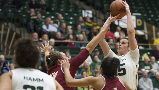 CSU forward Veronika Mirkovic shoots during a game against University of Denver earlier this week. The Rams host Southeastern Louisiana at 7 p.m. Friday.