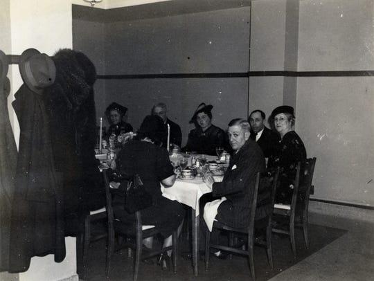 Interior of the restaurant inside the Porter Hotel.
