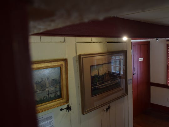 While repairing the Cannonball House in the 1960s the door on the left supposedly came open each night, attributed to a ghost.