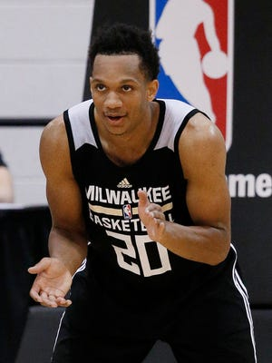 Rashad Vaughn, shown here in a previous NBA summer league game, scored 31 points vs. the Nets on Sunday night in Las Vegas.