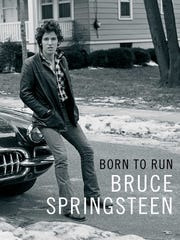 "The cover of Bruce Springsteen's book, ""Born to Run."""