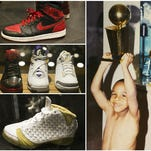 """Scenes from inside the Trophy Room on Sunday at Disney Springs at Walt Disney World in Orlando, Florida. Marcus Jordan, son of Michael Jordan, opened the store as a tribute to his father and family. The grand opening is Monday and will feature Jordan family photos, rare sneakers and clothing. """"I want people to know what it is like to be in our family's trophy room,"""" said Marcus Jordan."""