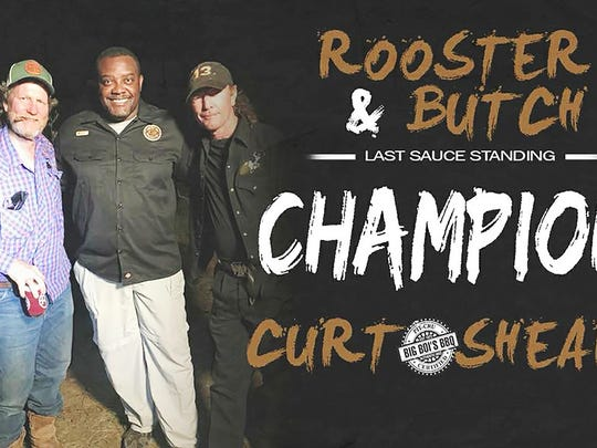 Curt Sheard, creator and founder of Big Boi's BBQ, won an episode of A&E's Rooster & Butch on Wednesday. Sheard's BBQ sauce collection earned him the victory.
