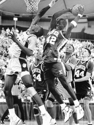 Xavier rolled to its first Sweet Sixteen in 1990, shocking John Thompson's Georgetown Hoyas starring Alonzo Mourning and Dikembe Mutombo.