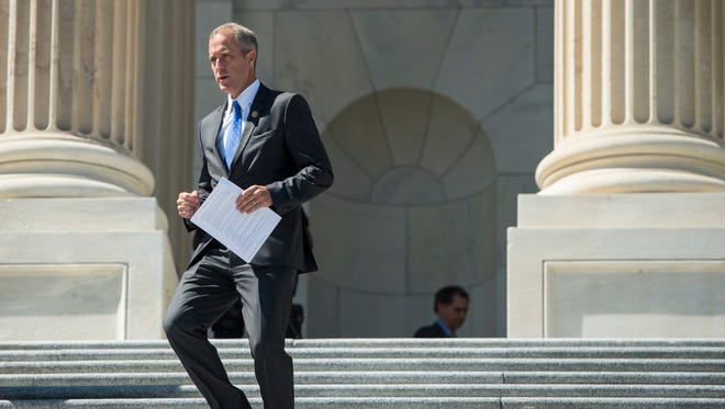 Rep. Sean Maloney, D-N.Y., walks down the House steps at the Capitol