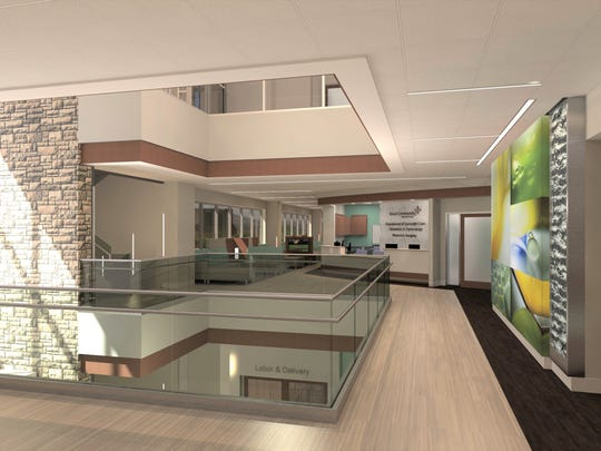A view of the planned new Family Care Center at Knox Community Hospital.