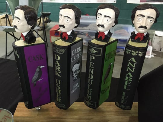 Four taps from RavenBeer, which is based in Baltimore and names all of its beers after Edgar Allan Poe's poems and stories. The company was one of the vendors at this year's Hibrewnation beer tasting festival at the York Expo Center.