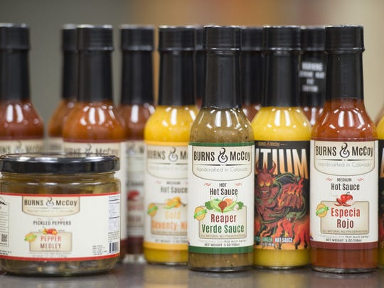 Burns and McCoy makes over a dozen hot sauce products