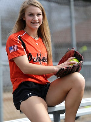 Oakfield's Karissa Ryan is a two-time first-team all-conference selection as a pitcher and has helped the Oaks get off to a 5-1 start this season.