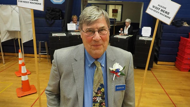 Town Moderator David Ott participated in his last York election officially in 2017. He died May 31 at the age of 83.