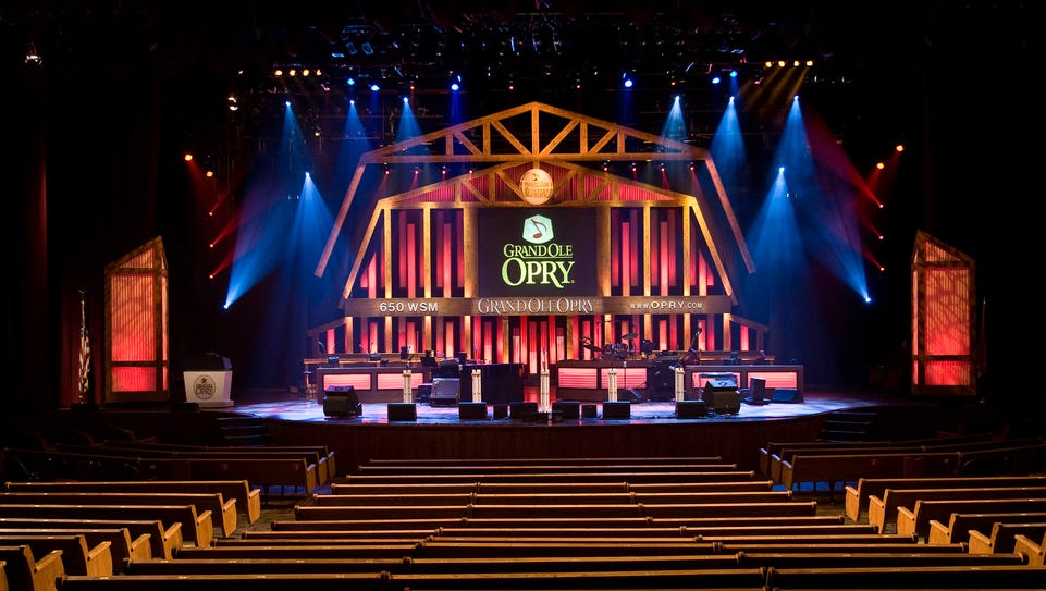 The Grand Ole Opry in Nashville offers weekly shows